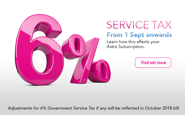 Astro services at 6% Government Service Tax